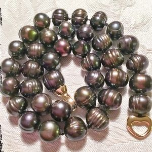 Jewelry - 🌟Stunning Black Baroque Pearl Necklace